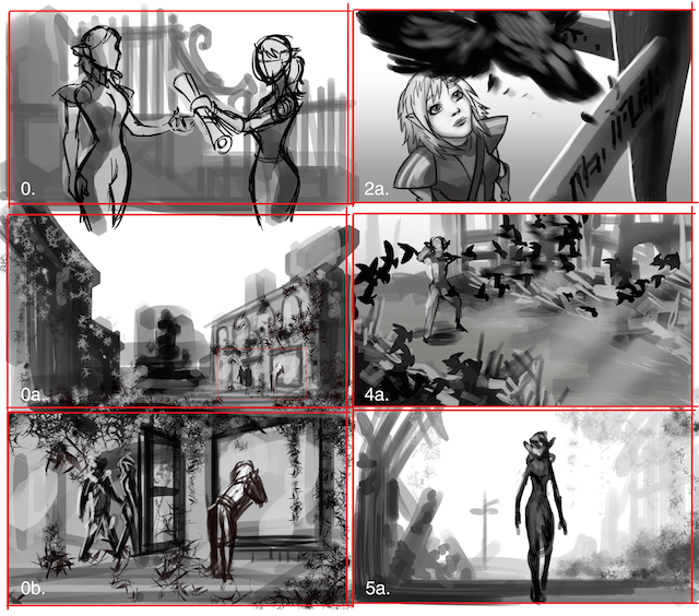 storyboard-to-animation-black-and-white